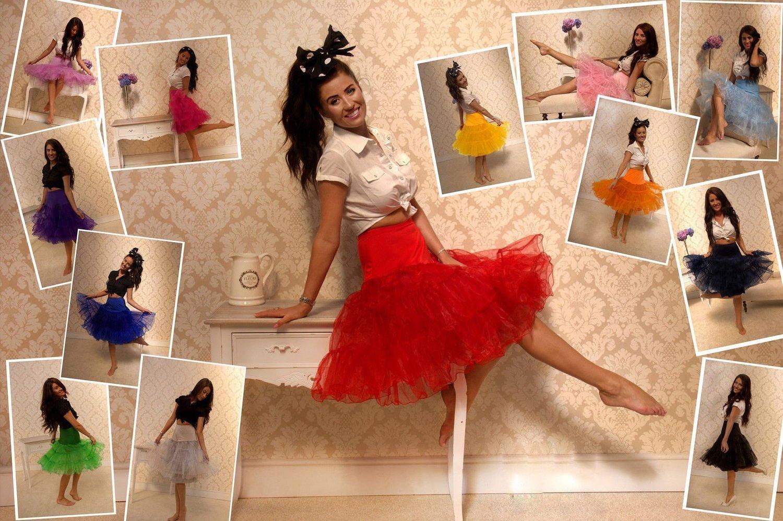 50s Vintage Rockabilly Net Petticoat Skirt 26 Quot Yellow