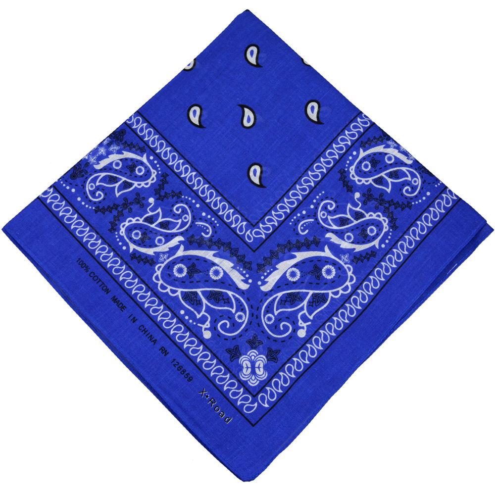 100% Cotton Paisley Bandana Double Sided ROYAL BLUE ...
