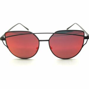 Cat Eye Red Black Sunglasses